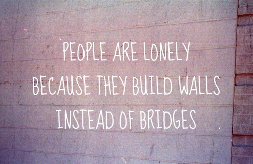 bridges, quote, walls