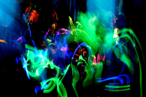 bright, dance, lights, motion blur, music, party, rave