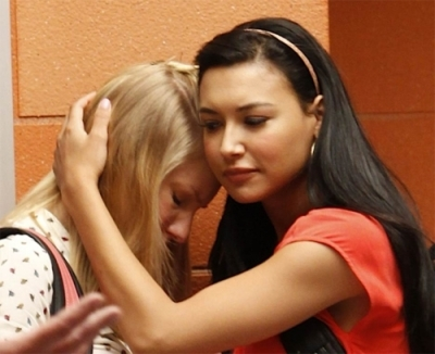 brittana, girl, glee, kiss, love, naya rivera, santana lopez