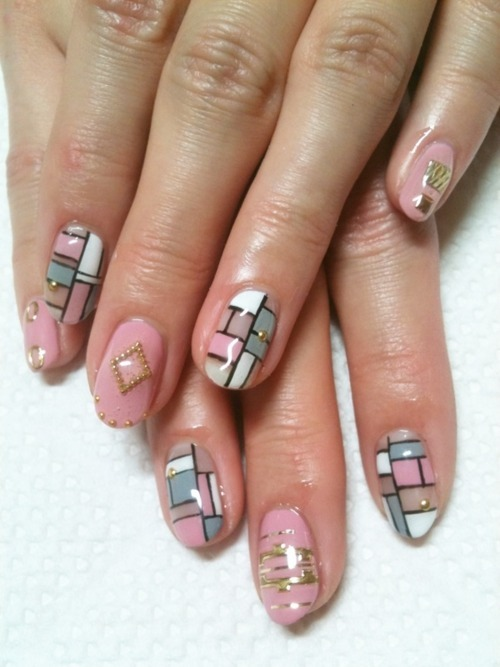 brocade, colorful, colors, cute, fashion, fingernails, geometric, geometry, girly, glossy, gold, golden, manicure, nail art, nail painting, nail polish, nailart, nails, nails fashion, nails style, pattern, pretty, style