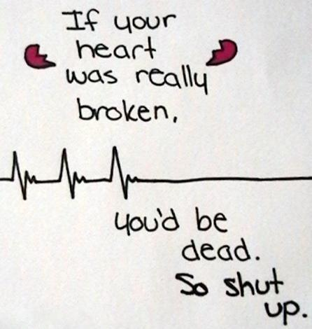 broke, broken, dead, heart, life, people, quotes, shut