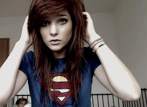 brown hair, cute, emo, girl, leda