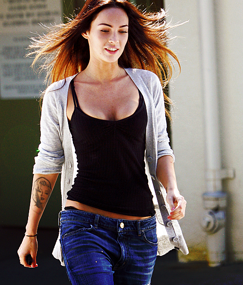 brunette, candid, gorgeous, hair, hot, megan fox, megan linda, minha, sexy, skinny, tattoo