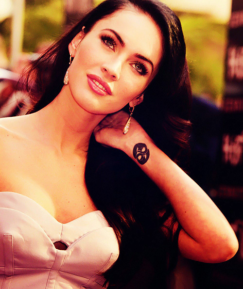 brunette, eyes, gorgeous, hair, hot, lips, megan fox, sexy, tattoo