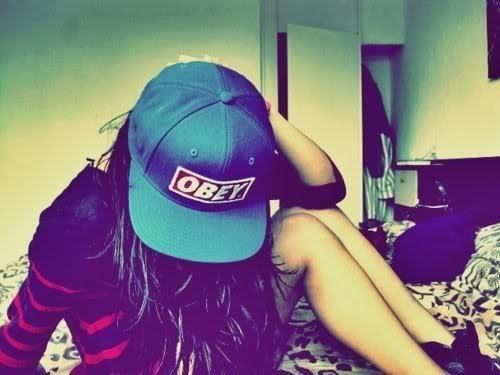 brunette, fashion, girl, obey, swag