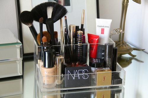 brushes, elizabeth arden, make up, nars, ysl