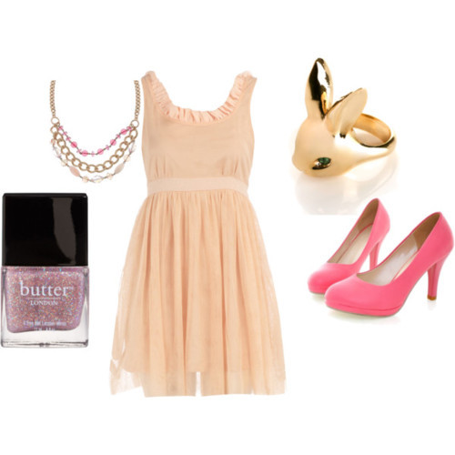 bunny, chain, combination, cute, diva, dress, elegance, elegant, fashion, girl, gold, green, heels, high, hot, love, nail polish, pink, ring, rose, sexy, short, style, swag, vestido, woman