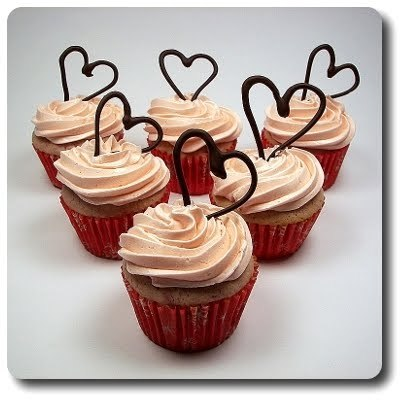 buttercream, chocolate, cupcake, cupcakes, food, frosting, heart, hearts, raspberry