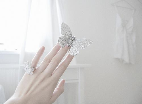 butterfly, cute, girl, hand, ring