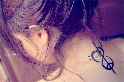 cabelo, cute, fashion, girl, peace love, tatto, text