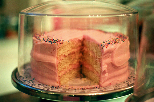 cake, colors, pink