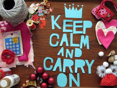 calm, carry, cute, keep, pink, quotes