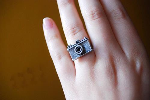 camera, cute, girl, photo, ring