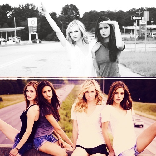 candice accola, girl, girls , nina dobrev, tvd