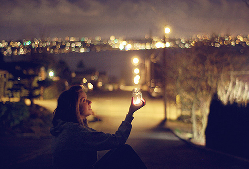candle, girl, hair, light, love