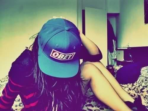 caps, girl, obey, swag