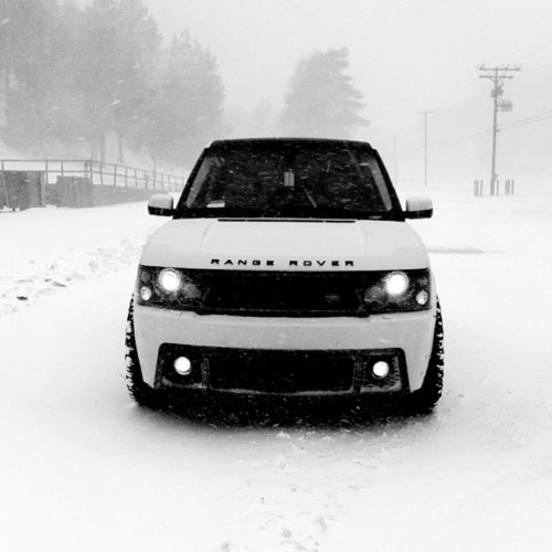 car, fashion, land rover, range rover, snow