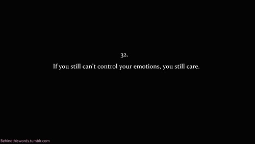 care, control, emotions