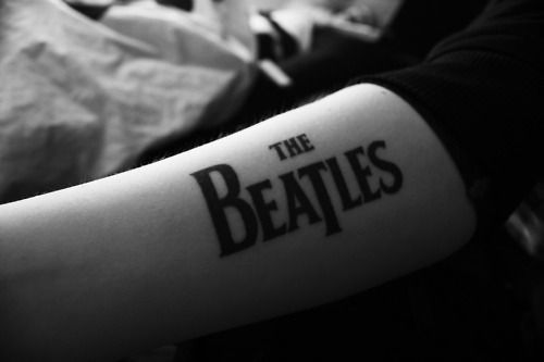 beatles, beauty, black, black and white, black white, music, photograph, photography, tattoo, the beatles, trendy, vintage, white