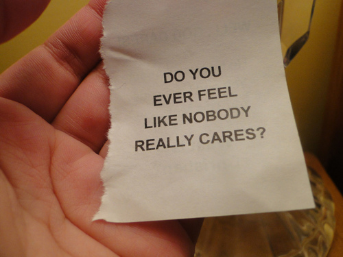 caring, hand, nobody, nobody really cares, note, text