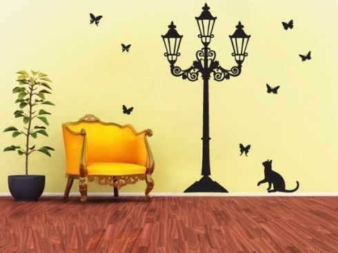 cat, curious, home, room, wall