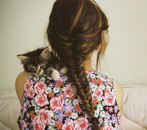cats, fahion, girl, hair, vintage