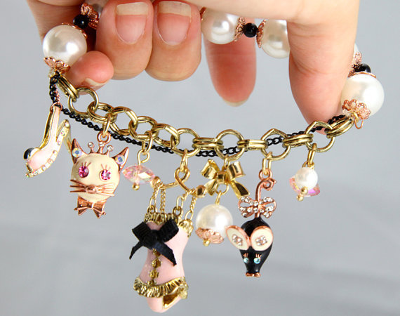 charm bracelet, cute, girls , pretty