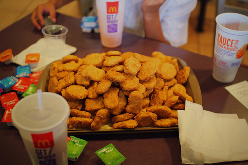 chicken, drink, food, hungry, mcdonalds
