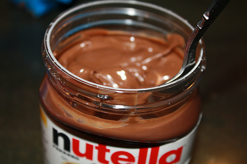 chocolate, nutella, photography, yummy