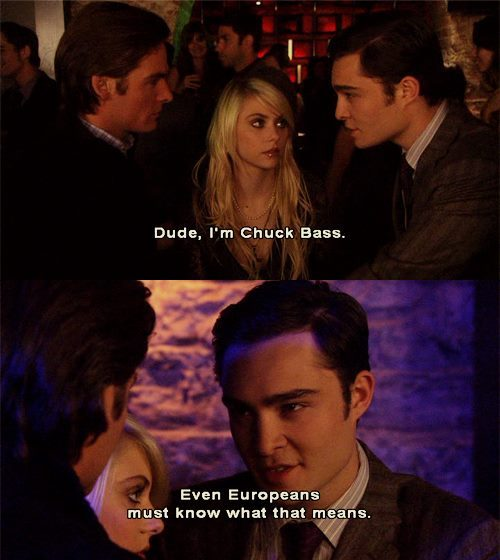 chuck bass, damien dalgaard, dude, funny, handsome, jenny, quote, real, text, truth