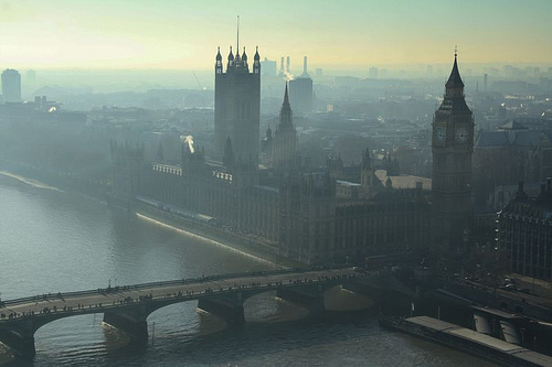 city, cute, dark, england, fog