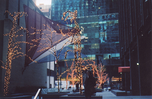 city, heart, lights, love, new york, winter