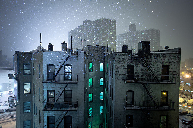 city, landscape, new york, night, urban
