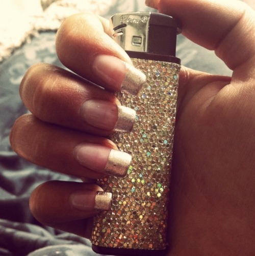 classy, fashion, lighter, nails, swag
