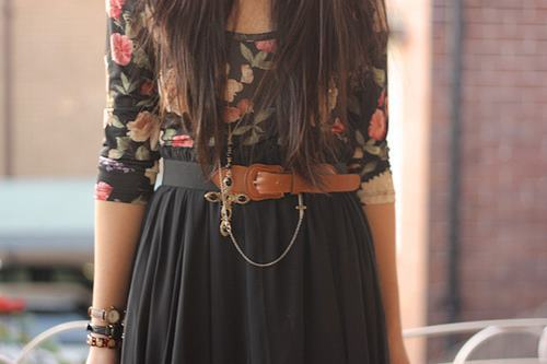cliche, cute, fashion, flowers, necklace