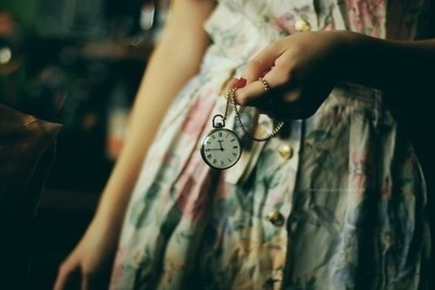clock, cute, dress, girl, jewelry, necklace, photography