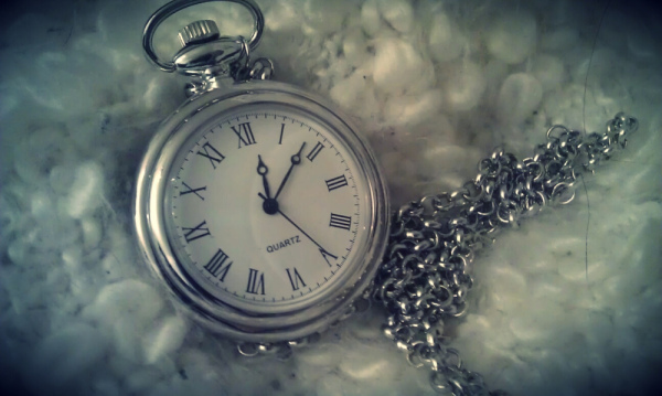 clock, cute, jewerly, necklace, old