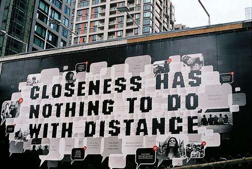 closeness, distance, has, new york, nothing, photography, quote, text, with