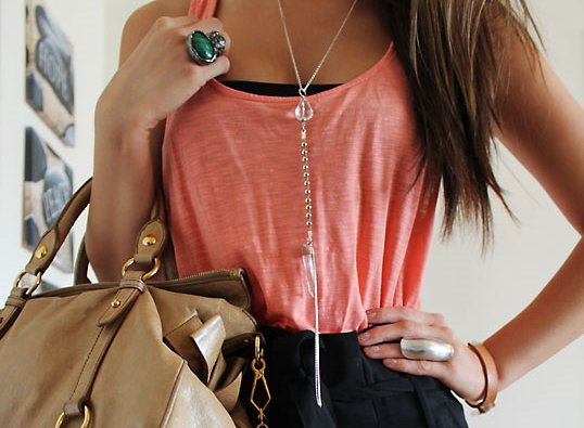 clothes, fashion, necklace, purse, ring