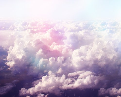 clouds, purple, sky