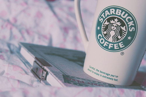 coffee, cute, pastel, photography, starbucks, vintage, white, yummy