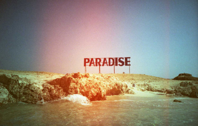 coldplay, paradise, sand, sea, song, summer, text