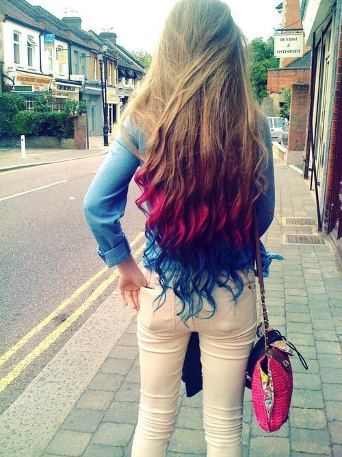 color, colorful, hair