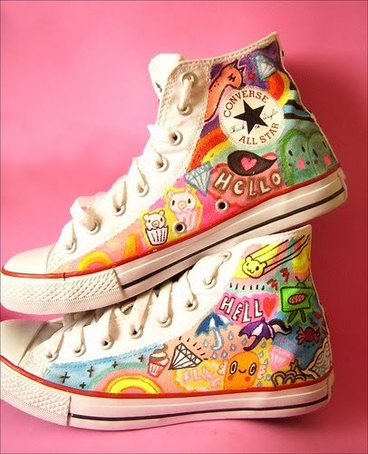 color, converse, cute, fashion, sneaker, words