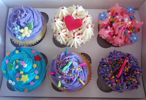 colorful, colors, cupcakes, food, frosting