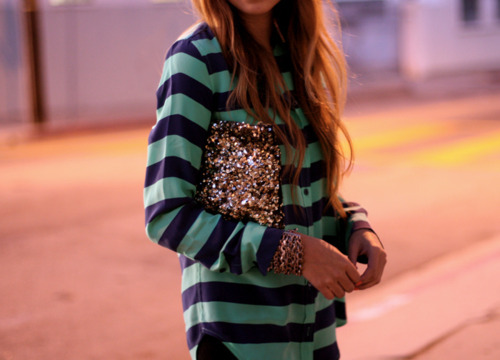 colorful, fashion, sequins, stripes, style