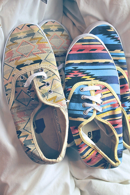 colorful, patern, shoes