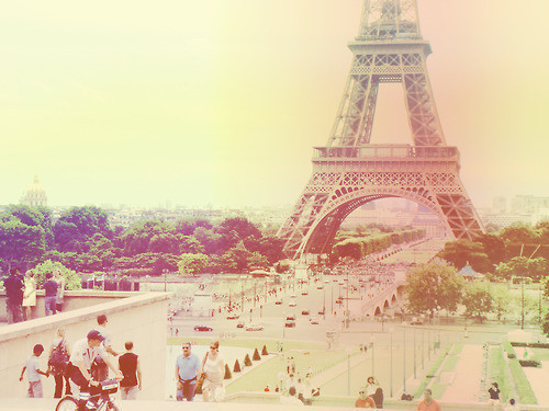 colors, eiffel tower, faded, france, paris, pretty
