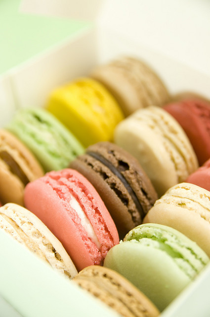 colourful, food, macarons