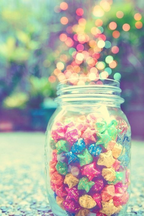 colours, hearts, jar